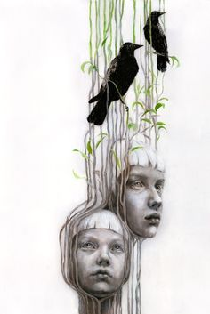 Illustration by Beatriz Martin Vidal Art Sketches, Art Drawings, Drawing Faces, Hansel Y Gretel, Photo D Art, Ap Art, Portrait Art, Painting & Drawing, Drawing Tips