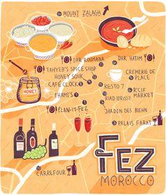 Patrick O'Leary - Map of Fez - Maroc Désert Expérience tours http://www.marocdesertexperience.com