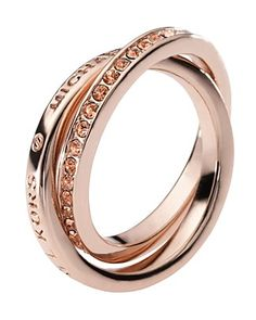 Michael by Michael Kors trinity rose gold ring.