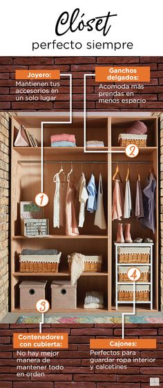 Aprender a organizar mejor tus espacios con nuestras recomendaciones. Bates Motel, Lifestyle, Closet, Furniture, Home Decor, Home Decorations, Drawers, Spaces, Organize
