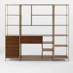 // Nook Storage Set - Wide Storage + 1 Tower + 1 Cabinet Base Tower #westelm
