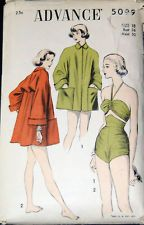 Vintage Original Advance 50s Unprinted Swimsuit/Coat Pattern 5099