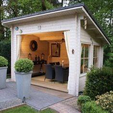 50 Popular DIY Backyard Studio Shed Remodel Design & Decor Ideas - Page 24 of 56 Free Standing Pergola, Outdoor Glider, Backyard Storage Sheds, Studio Shed, Backyard Studio, Shed Design, Diy Design, Backyard Lighting, Vegetable Garden Design