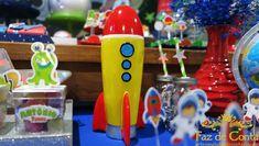foguete para decoração Astronaut Party, Space Party, Birthday Candles, Jr