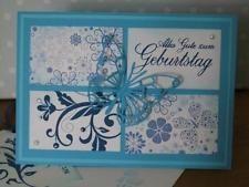 Handgemachte Stampin up Karte mit Umschlag - Geburtstag, Herzlichen Glückwunsch,