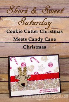 Dimensions & instructions included in blog post - Stampin' Up! Cookie Cutter Christmas & Candy Cane Christmas - Create With Christy: Short & Sweet Saturday (S&SS) - Christy Fulk, SU! Independent Demo