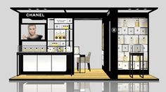 3Ds Max Exhibition Stand Chanel Gum - 3D Model