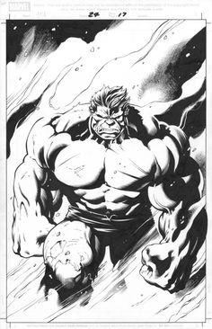 Hulk #24 pg. 17 Comic Art