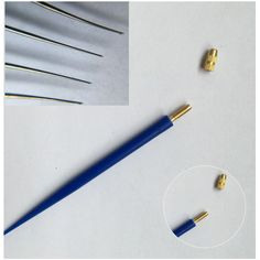 4 Size Korean Ventilating  Needles(1-1,1-2,2-3,3-4) +1 Plastic Holder Repair Lace Wigs Toupee Hairpiece Wig Knotting Hook Set