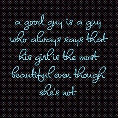 What a good guy says...
