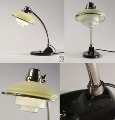 C. F. Otto Müller for Müller & Zimmer GmbH; table lamp mod. Sistrah TS 2, chrome plated brass, iron and glass, Germany, 1932 (sold by Sistrah-Licht GmbH, (Megaphos))
