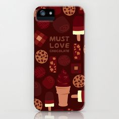 Must Love Chocolate iPhone 5 Case, iPhone 6, iPhone 6 Plus, iPhone 5c, iPhone 5s, Galaxy s5 Case, Samsung Galaxy s4, iPhone 4,4S,3G,3GS - pinned by pin4etsy.com