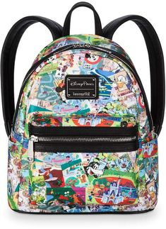 Visit the worlds of past, future and fantasy carrying this Disney Parks mini backpack by Loungefly, which brings back a wave of happy memories from the golden era of Walt Disney's Magic Kingdoms. Disney Handbags, Disney Purse, Purses And Handbags, Disney Shoes, Cute Disney, Disney Style, Walt Disney, Disney Tips, Downtown Disney