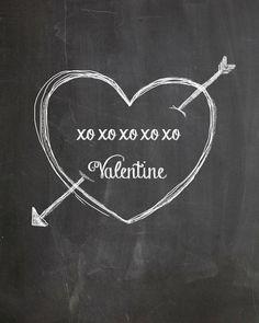 XO Valentine Chalkboard Art by AltusPhotoDesign on Etsy, $3.00