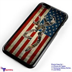 browning deer camo flag USA - Personalized iPhone 7 Case, iPhone 6/6S Plus, 5 5S SE, 7S Plus, Samsung Galaxy S5 S6 S7 S8 Case, and Other
