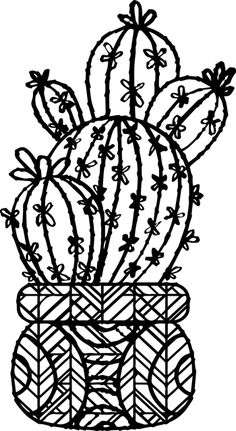 Inspiring Words, Cactus Silhouette, Christmas Cactus Plant, Cactus Doodle, Doddle Art, Free Coloring Pages, Coloring Sheets, Printable Coloring, Adult Coloring