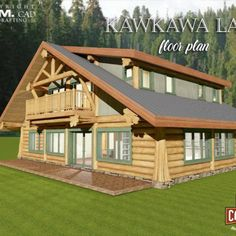 At Cascade Handcrafted Log Homes we'll work with you in choosing a floor plan or your custom design, then we'll build it for you! Office Bathroom, Bedroom Office, Log Cabin Builders, Log Home Floor Plans, Covered Decks, Timber House, Post And Beam, Western Red Cedar, Cozy Cabin