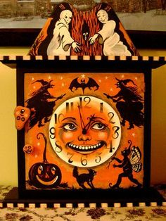 wall clocks halloween - Google-Suche & All Hallowu0027s Eve Fortune Telleru0027 This is the middle of the large ...