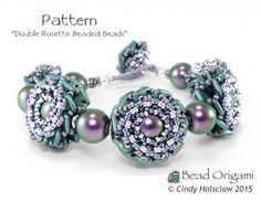 Double Rosette Beaded Beads - Cindy Holsclaw - Bead Origami