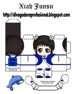 DIY paper toy TVXQ balloons  DIVAgadora Kpoper Profesional: XIAH JUNSU