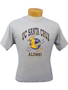 Men's Grey UC Santa Cruz Alumni Tee