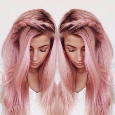 Sometimes I want my hair to be a blatantly unnatural pastel hair color but that would be dubious (I felt like using big words) Rose Gold Hair, Pink Hair, Gray Hair, Dye My Hair, Mermaid Hair, Pretty Hairstyles, Scene Hairstyles, Fashion Hairstyles, Messy Hairstyles