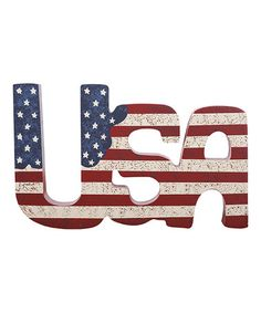 Look at this #zulilyfind! USA American Flag Sign #zulilyfinds