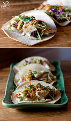 So easy to make. Prepare broccoli slaw the night before. Next day cooked the fish, put in a warm corn tortilla and topped it with the broccoli slaw. A healthy dinner 10 minutes. Slaw For Fish Tacos, Healthy Fish Tacos, Clean Eating Recipes, Healthy Eating, Cooking Recipes, Fish Recipes, Seafood Recipes, Broccoli Slaw Recipes, Seafood Dishes