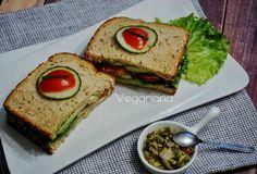 Sanduíche de Pepino com Tomates e Abacate