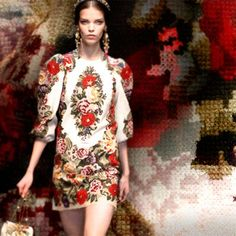 beautiful embroidery by #Dolce&Gabanna #hautecouture #embroidereddress