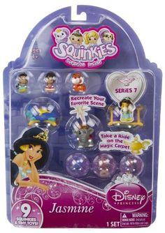Squinkies Disney Princess Series #7 - Jasmine (6 Squinkies + 3 Tiny Toys) by Blip Toys, http://www.amazon.com/dp/B007X9CYBY/ref=cm_sw_r_pi_dp_qvbNrb1QBREAW