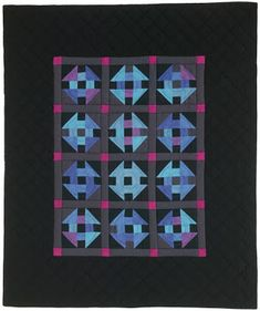 """Amish Glow quilt, 62 x 74"""", pattern by John Kubiniec at Big Rig Quilting;  free lap quilt pattern download at McCall's Quilting"""