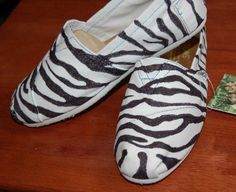 TOMS zebra shoes // #TOMSshoes TOMS Shoes #OneforOne One for One #StyleYourSole Style Your Sole #DIY