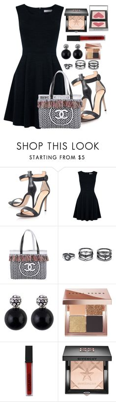 """Untitled #1617"" by anarita11 ❤ liked on Polyvore featuring Gianvito Rossi, Oasis, Chanel, LULUS, Bobbi Brown Cosmetics, Smashbox, Givenchy and Burberry"