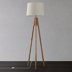 Buy John Lewis Hampstead Wooden Tripod Floor Lamp, Ash Online at johnlewis.com