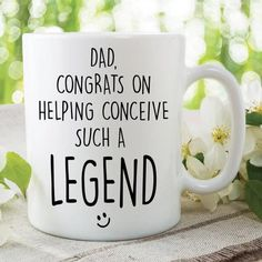 Funny Novelty Mugs Coffee Cup Dad Conceived A Legend Dad Mug Dad Gift Fathers Day Birthday Present Funny Cup Gifts For Dad Jokes White Coffee Mugs, Funny Coffee Mugs, Coffee Humor, Funny Mugs, Coffee Cups, Funny Gifts, Daddy Gifts, Gifts For Dad, Rude Mugs