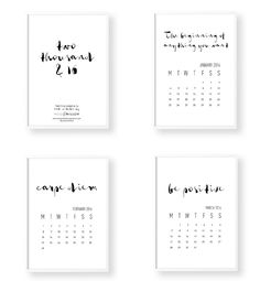 --SITE WILL BE CLOSED FROM THE 20th DECEMBER - 22nd JANUARY--simple typography Calendar that will look stunning in any space of your home. This 12 month calendar from Wool