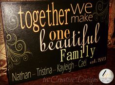 Custom Family Established sign with quote by twcreativedesigns Wood Crafts, Fun Crafts, Established Family Signs, Custom Wedding Gifts, Sign Quotes, Mom Quotes, Qoutes, Vinyl Projects, Pallet Projects