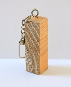 Wooden key ring natural wood keychain rustic key by MKKwoodenstuff