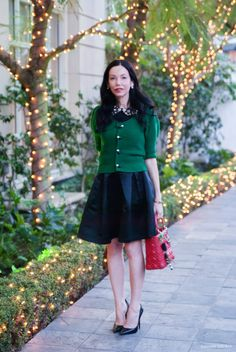 Afternoon Tea at The Peninsula Beverly Hills, Nasty Gal Skirt, Nastygalsdoitbetter, Lady Dior Bag, Zara Pumps, Winter Fashion, Anthropologie Sweater