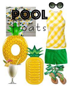 """Piña Pool Colada"" by alvernacecilia on Polyvore featuring mode, STELLA McCARTNEY, Sunnylife, Prada en poolfloats"