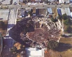 You never know when and where the next sinkhole will open up in Central Florida. I remember in 1981 covering the famous Winter Park sinkhole that Old Florida, Vintage Florida, Central Florida, Tornados, Winter Park, Orlando, Olympic Size Pool, Parks, Florida Images