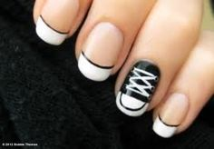 Love this idea! i think i would end up doing the shoe on every nail in different colors. how cool would that look?!