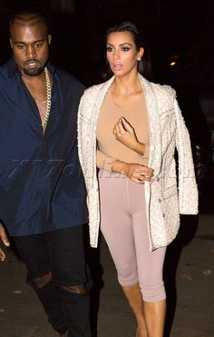 Kim Kardashian And Kanye West Step Out In Paris