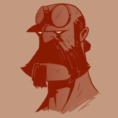 #Hipster Hellboy ! #Geek