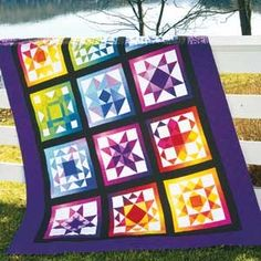 Sampler quilts are really growing on me. I think this would make a great baby/kid gift. Since it's pretty pricey, splitting into two quilts would yield more bang for the bucks. I'm seeing this 2x3 block quilts on the girls' twin beds someday. Rainbow Memories Kit, Keepsake Quilting.