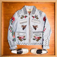 Inside J Balvin's Closet: The Colombian superstar with a collection of one-of-a-kind and rare pieces (a few being gifts from Pharrell himself). New York. --Inside J Balvin's Closet: The Colombian superstar with a collection of one-of-a-kind and rare pieces (a few being gifts from Pharrell himself). New York. --Jacket, Raf Simons; Shirt, Fear of God; Jeans, Saint Laurent; Shoes, Raf Simons. |  Coveteur.com.