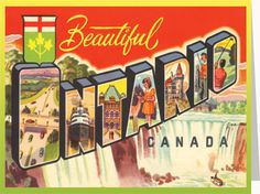 Shop Online For Greeting Cards, Retro Canadiana & - Canadian Culture Thing Notecard - Beautiful Ontario