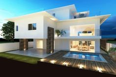 Building My House Clean: 30 Facades of Dreams Modern Houses! Modern Architecture House, Architecture Design, Scandinavian Style Home, Modern Mansion, Luxury Homes Interior, Facade House, Future House, Beautiful Homes, Exterior Design