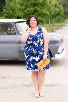 @karen_kane  Palm Print Dress from @gwynniebee on Plus Size Fashion Blogger Authentically Emmie